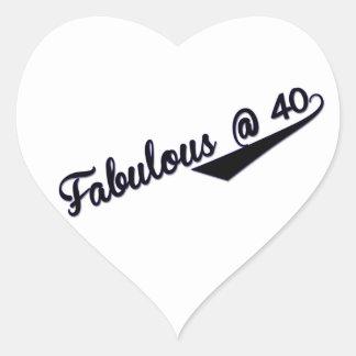 Fabulous @ 40 heart sticker