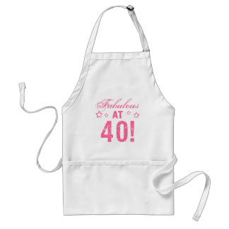 Fabulous 40th Birthday Adult Apron
