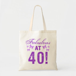 Fabulous 40th Birthday Tote Bag