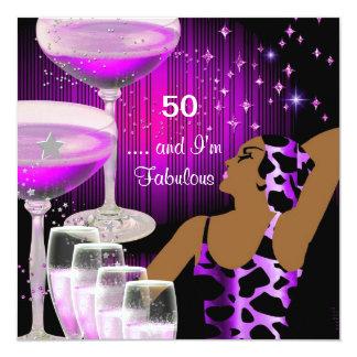 Fabulous 50 Birthday Diva Fabulous Purple Pink Card