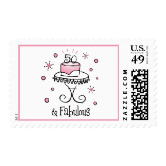 Fabulous 50 Birthday Stamp