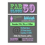 FABULOUS 50 - Cool Modern Birthday Invitations