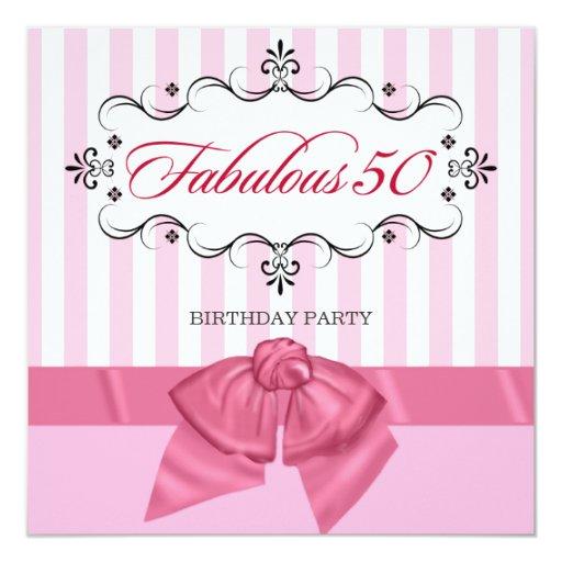 Fabulous 50 - Custom Birthday Party Invitations