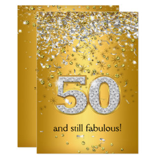 Fabulous 50 Gold Silver Streamers 50th Birthday