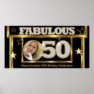 Fabulous 50 Retro Glamour Hollywood Gold Photo Poster