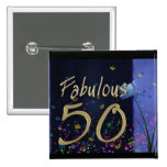 Fabulous 50th Birthday! 2 Inch Square Button