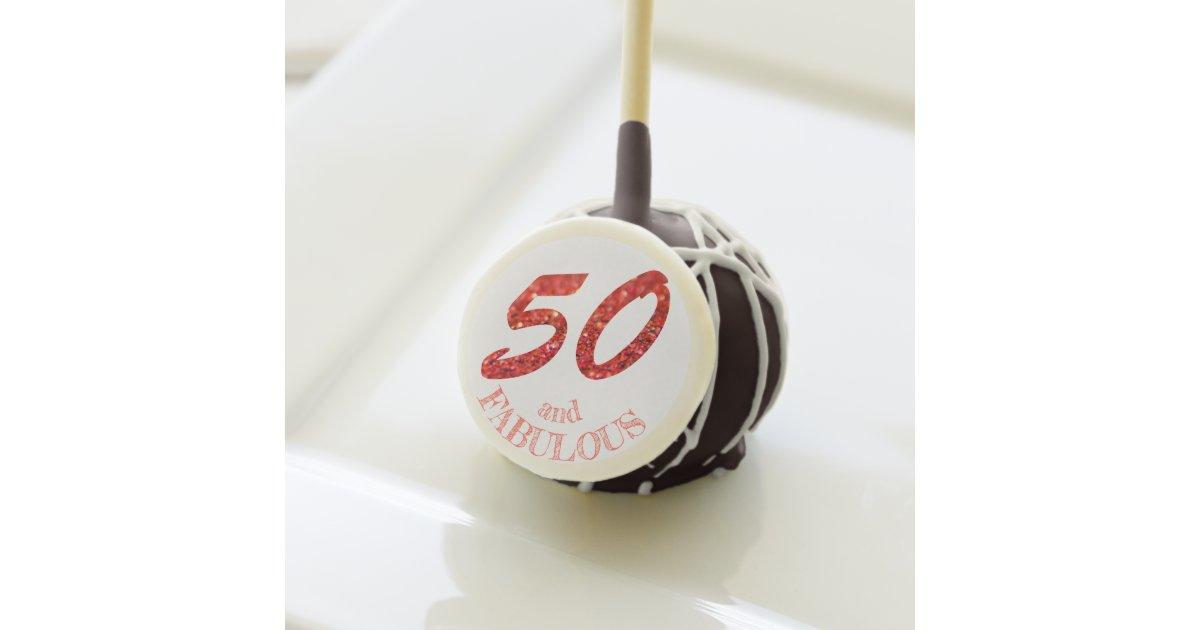 Phenomenal Fabulous 50Th Birthday Coral Glitter Sparkle Cake Pops Zazzle Com Funny Birthday Cards Online Inifodamsfinfo