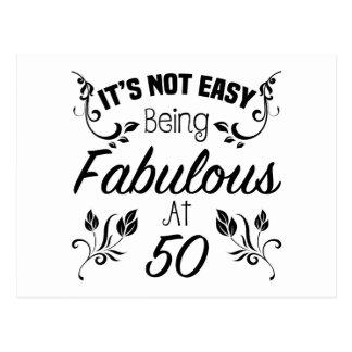 Fabulous 50th Birthday Postcard