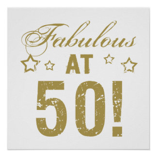 Fabulous 50th Birthday Poster