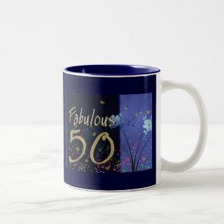 Fabulous 50th Birthday! Two-Tone Coffee Mug