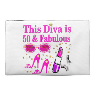 FABULOUS 50TH DIVA TRAVEL ACCESSORIES BAGS