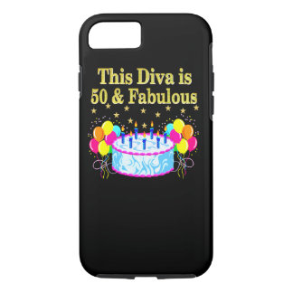 FABULOUS 50TH PARTY CELEBRATION DESIGN iPhone 7 CASE