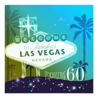 FABULOUS 60 Las Vegas Birthday Party Card