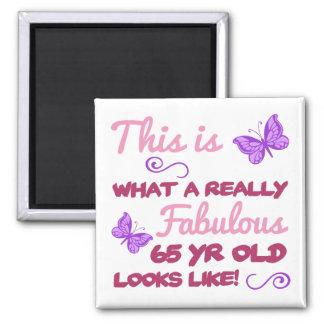 Fabulous 65th Birthday Magnet