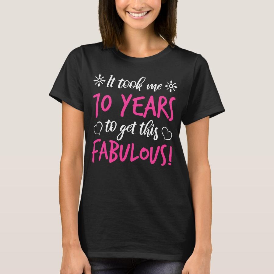 Fabulous 70th Birthday T Shirt