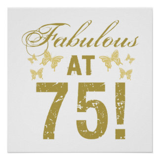 Fabulous 75th Birthday Poster