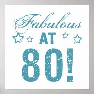 Fabulous 80th Birthday Poster