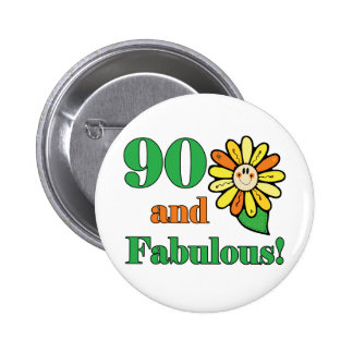 Fabulous 90th Birthday Gifts 2 Inch Round Button