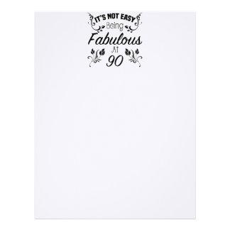 Fabulous 90th Birthday Letterhead
