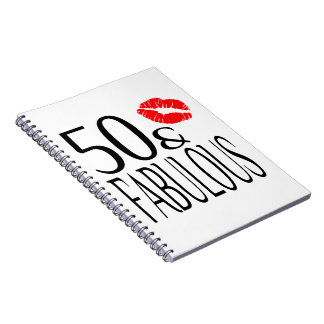 Fabulous and Fifty Spiral Notebooks