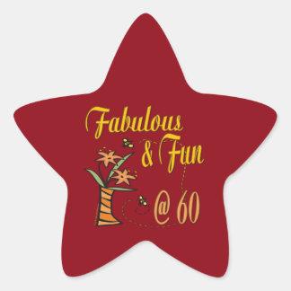 Fabulous and Fun 60th Star Sticker
