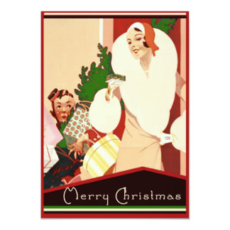 Fabulous Art Deco Merry Christmas Card