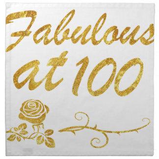 Fabulous at 100 years cloth napkin