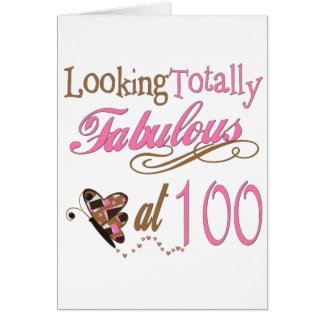 Fabulous at 100 Years old Greeting Card