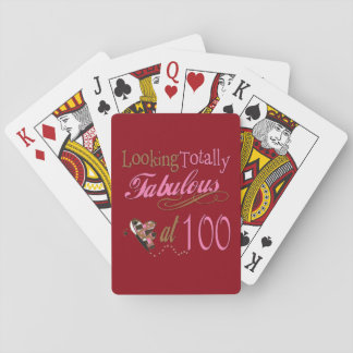 Fabulous at 100 Years Old Playing Cards