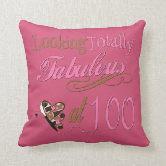 Fabulous at 100 Years Old Throw Pillow