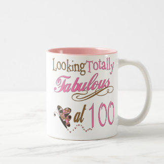 Fabulous at 100 Years old Two-Tone Coffee Mug
