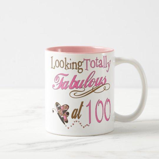 Fabulous at 100 Years old Two-Tone Coffee Mug