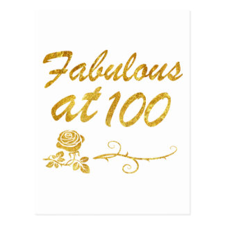 Fabulous at 100 years postcard