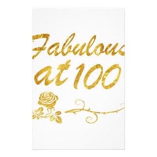 Fabulous at 100 years stationery