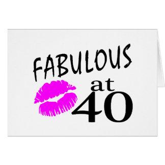 Fabulous at 40 greeting card