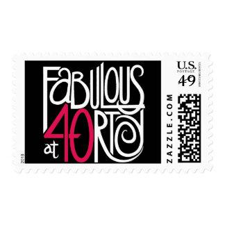 Fabulous at 40 Dark Stamp