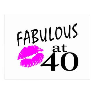 Fabulous at 40 postcard