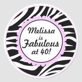 Fabulous at 40 Sticker