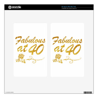 Fabulous at 40 years decal for kindle fire