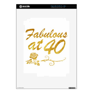Fabulous at 40 years iPad 2 decal