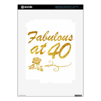 Fabulous at 40 years iPad 3 decals