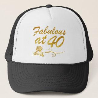 Fabulous at 40 years trucker hat