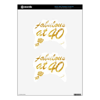 Fabulous at 40 years xbox 360 controller skin