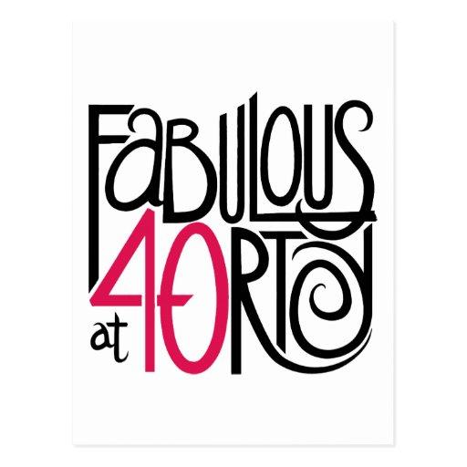 Fabulous at 40rty Postcard