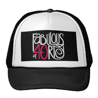 Fabulous at 40rty white Hat