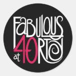 Fabulous at 40rty white Sticker