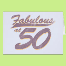 Fabulous at 50 Birthday Card