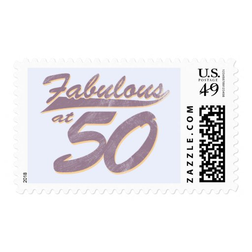 Fabulous at 50 Birthday Postage Stamps