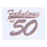 Fabulous at 50 Birthday Postcard