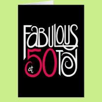 Fabulous at 50 Black Card